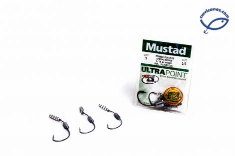 MUSTAD ANZUELO POWER LOCK PLUS SPRING KEEPER 91768S116 1/16 OZ