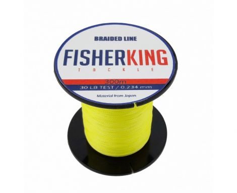 FISHER KING LINEA TRENZADA 50 LBS/300 MTS, DIA. .370 MM COLOR AMARILLA