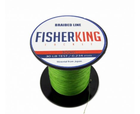 FISHER KING LINEA TRENZADA 30 LBS/300 MTS, DIA. .234 MM COLOR VERDE