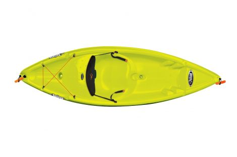 PELICAN KAYAK APEX 80XE CITRINE/WHITE 8 PIES