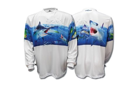 BIG FISH JERSEY MANGA LARGA BIG BLUE PANEL