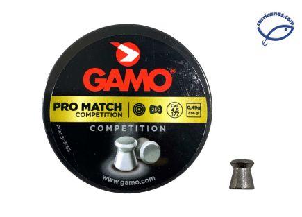 GAMO DIABOLO PRO MATCH COMPETITION CAL 4.5 (250 PIEZAS)