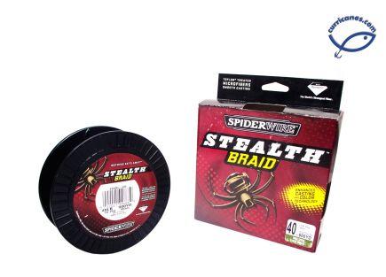 SPIDER LINEA STEALTH TRENZADA 40 LBS/500 YDS, DIA. .013 PULGADAS VERDE
