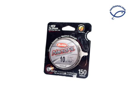 BERKLEY LINEA NANOFIL 10 LBS/150 YDS, DIA. .007 PULGADAS CLEAR MIST