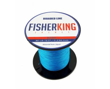FISHER KING LINEA TRENZADA 50 LBS/300 MTS, DIA. .370 MM COLOR AZUL