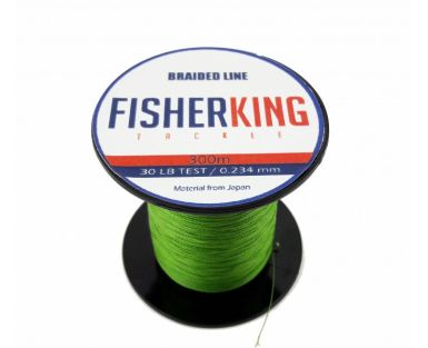 FISHER KING LINEA TRENZADA 30 LBS/300 MTS, DIA. .234 MM COLOR VERDE