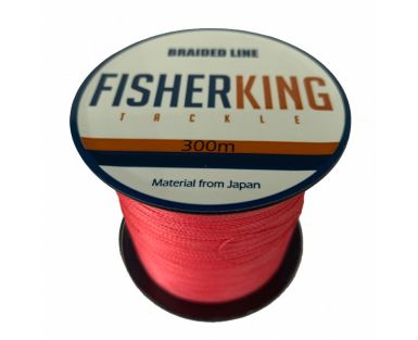 FISHER KING LINEA TRENZADA 30 LBS/300 MTS, DIA. .234 MM COLOR ROJA