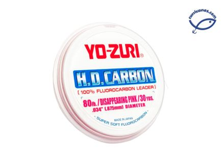 YOZURI LIDER FLUOROCARBONO H.D. CARBON DISAPPEARING PINK 30 YDS