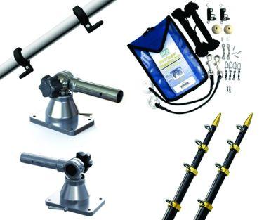 TACO MARINE KIT DE OUTRIGGERS TELESCOPICOS GRAND SLAM 170, 15 PIES, 1 1/8 PULGADAS MODELO GS-170BKA15-1