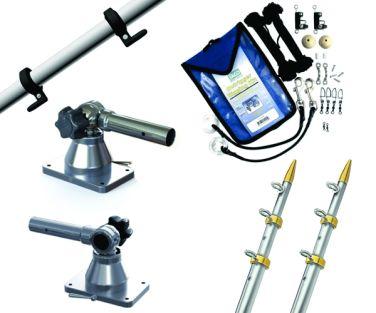 TACO MARINE KIT DE OUTRIGGERS TELESCOPICOS GRAND SLAM 170, 15 PIES, 1 1/8 PULGADAS MODELO GS-170VEL15-1