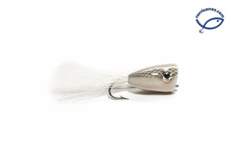 RAINYS BUCKTAIL POPPER WHITE #4/0 MOD. 956-94