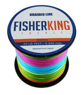 FISHER KING LINEA TRENZADA 40 LBS/300 MTS, DIA. .340 MM MULTICOLOR
