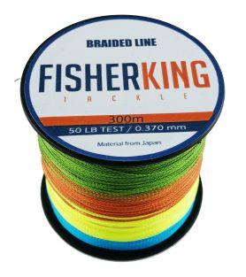FISHER KING LINEA TRENZADA 50 LBS/300 MTS, DIA. .370 MM MULTICOLOR