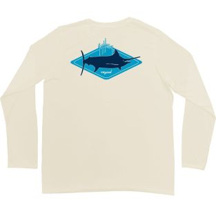GUY HARVEY JERSEY MANGA LARGA MH68852-PWDR KITE LOGO