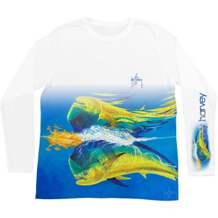 GUY HARVEY JERSEY MANGA LARGA MH68943-WHT MAHI REFLECTIONS