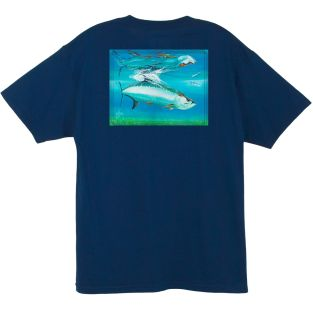 GUY HARVEY PLAYERA MANGA CORTA MTH11372-NVY TARPON REFLECT
