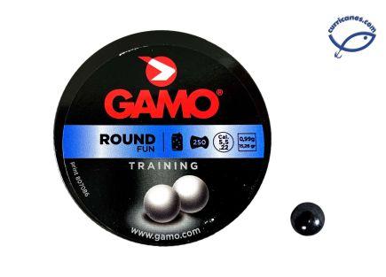 GAMO MUNICION DE BOLA ROUND FUN (250 PIEZAS)