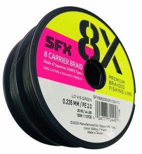 SUFIX LINEA TRENZADA SFX 8X 36.3 LBS., DIA. .20 MM, VERDE