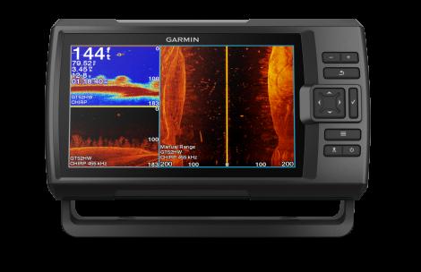 GARMIN FISHFINDER Y GPS STRIKER VIVID 9SV SIDEVU, CLEARVU Y CHIRP