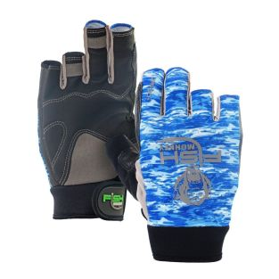 FISH MONKEY GUANTES THE CRUSHER COLOR BLUE WATER CAMO