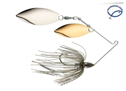 WAR EAGLE SPINNERBAIT NICKEL WILLOW/WILLOW 3/4 OZ WE34NW
